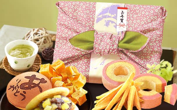 お年賀 お歳暮 2018 風呂敷和菓子セット
