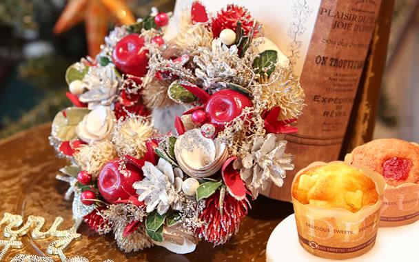 クリスマスプレゼント 2018 クリスマスリース:アップル