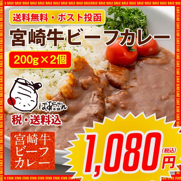 宮崎牛ビーフカレー2個セット