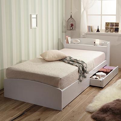 Mimi(ミミ) 敷布団でも使える収納付きベッド