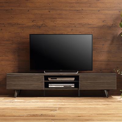 OLAND180(オーランド) 背面収納付きウォールナットTVボード
