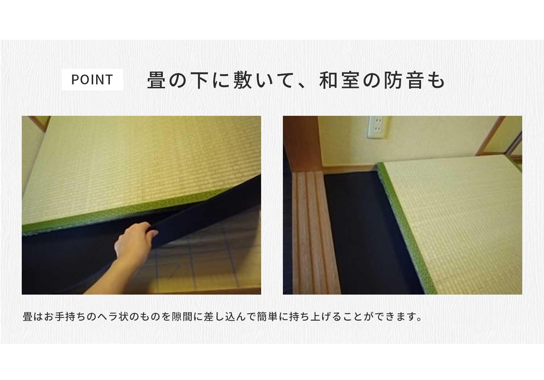 畳の下に敷いて、和室の防音にも