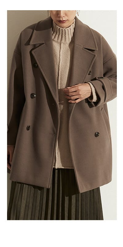 ショート丈コート