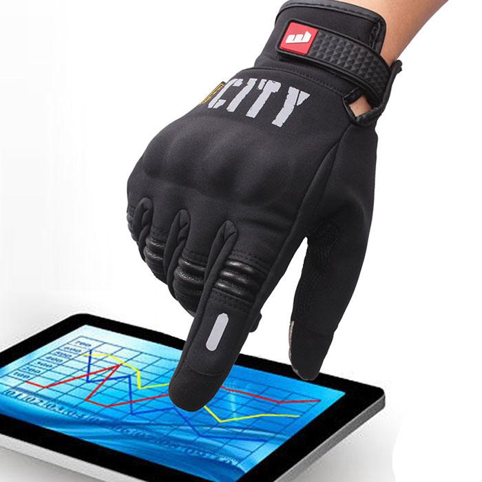 バイク用 防寒手袋 グローブ 冬 スマホ タッチパネル対応 反射板付 タッチスクリーン対応 ◇BIKE01