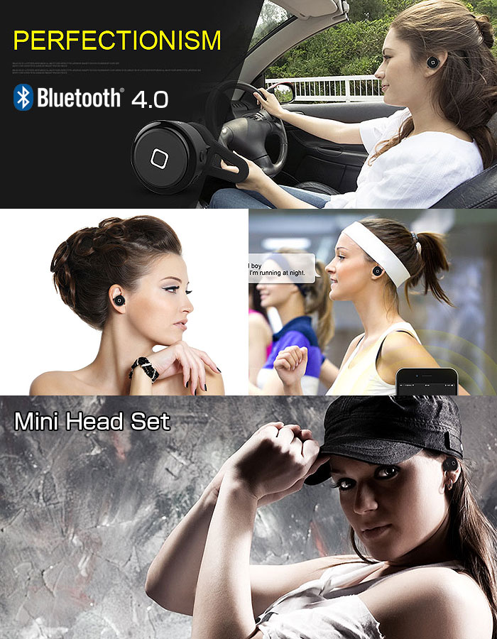 Bluetooth4.0 ミニヘッドセット ハンズフリー イヤホン スポーツ 通勤 ランニング ワイヤレス イヤホンマイク 高音質 耳栓 ◇YE-106T