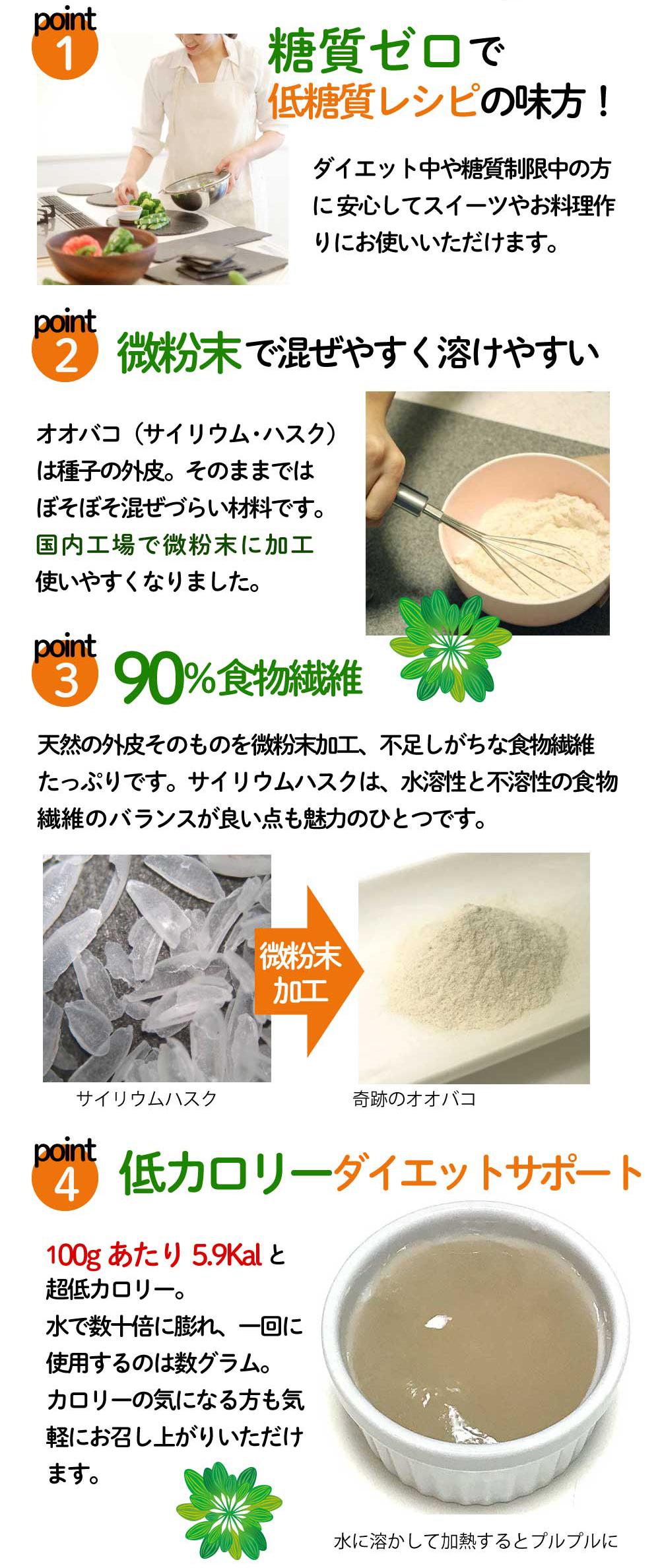 オオバコ サイリウム ハスク 食物繊維 90% オオバコダイエット に 糖質ゼロ 奇跡のオオバコを