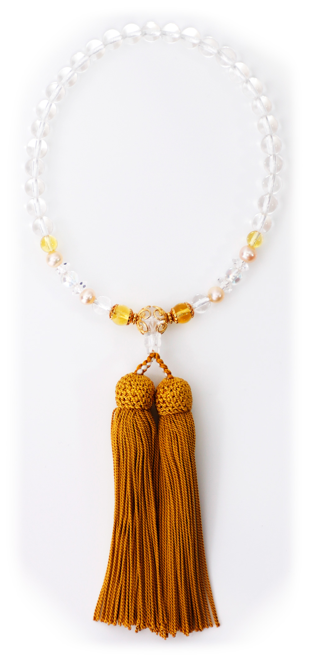 パワーストーン数珠黄色水晶