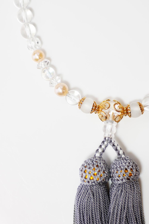 パワーストーン数珠霧水晶水晶