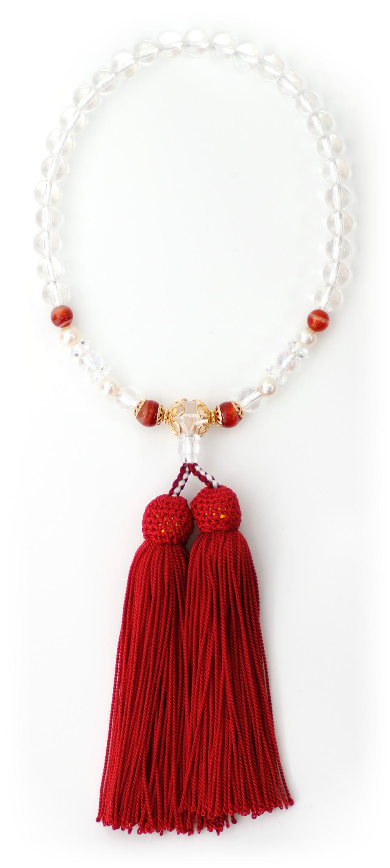 パワーストーン数珠霧縞メノー水晶