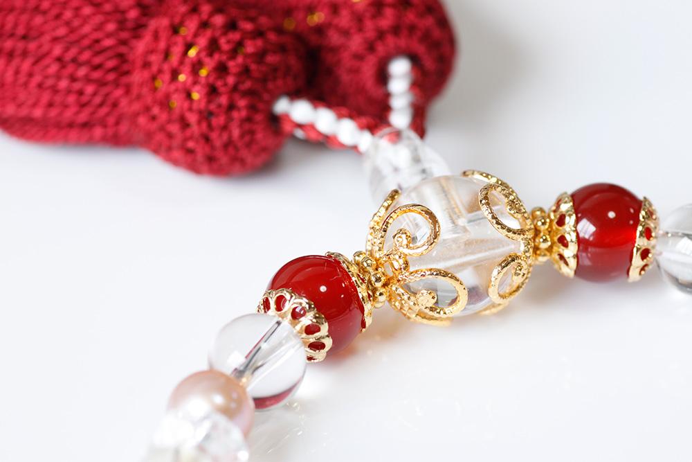 パワーストーン数珠霧メノー水晶