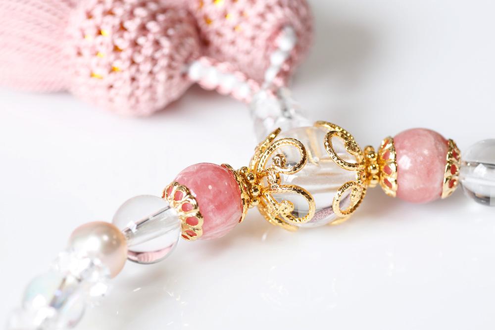 パワーストーン数珠ロート?クロサイト水晶