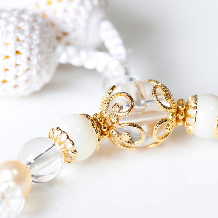 パワーストーン数珠シェル水晶