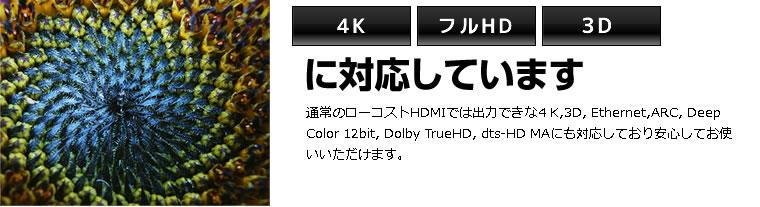 3D/4K/2K/フルHDに対応しています