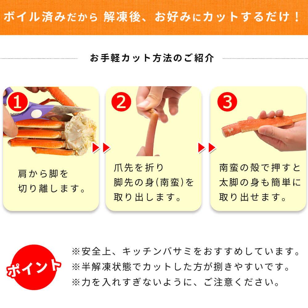 肩のカット方法