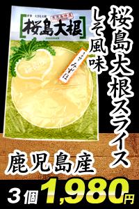 鹿児島産桜島大根スライスしそ風味