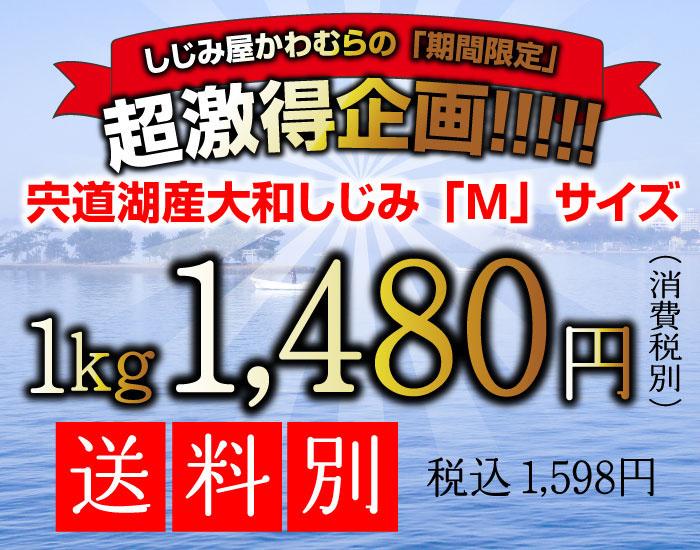 激得企画、宍道湖産冷凍大和しじみMサイズ、1キロ