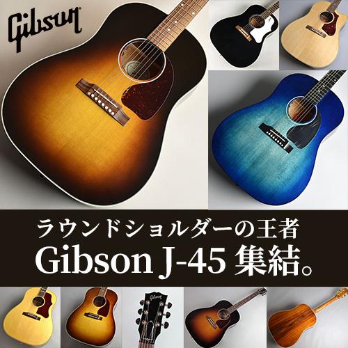 ラウンドショルダーの王者 Gibson J-45 集結。