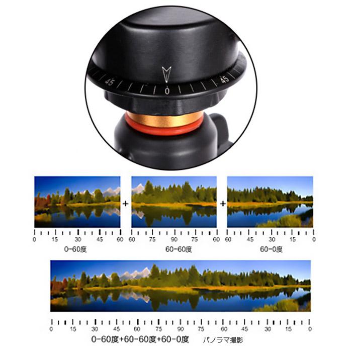 360度回転 雲台 カメラ三脚ボール パノラマ撮影 デジタル一眼レフカメラ ビデオカメラ 重さ580g ボトムネジ穴3/8 トップネジ1/4 耐荷重量6kg ◇Q-08