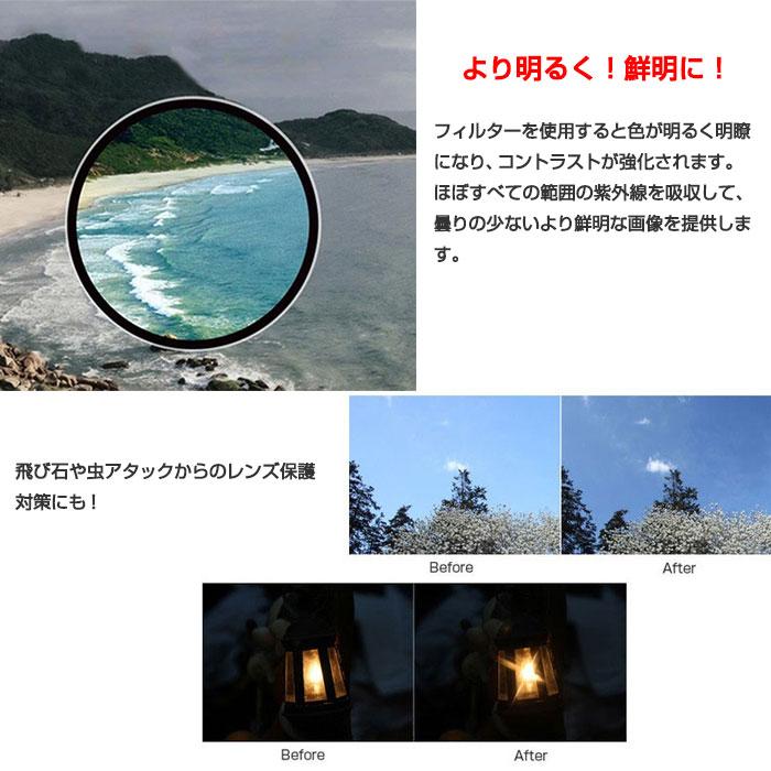 SJCAM SJ7 STAR用 UVプロテクターフィルター UV Filter キャップ レンズ 保護 直径40.5mm 【ゆうパケットで送料無料】◇SJ7-UV