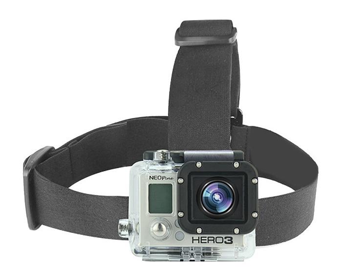 【NEOPine】アクションカメラ用 GoPro HERO/SJCAM sj4000 プロヘルメット ヘッドストラップ マウントヘッド ストラップマウント ◇GHS-1