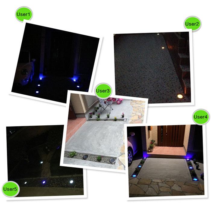 埋め込み式 ソーラー LED スポットライト 防水対応 ガーデンライト 玄関先 屋外照明 太陽光充電 遊歩道◇KSSL300