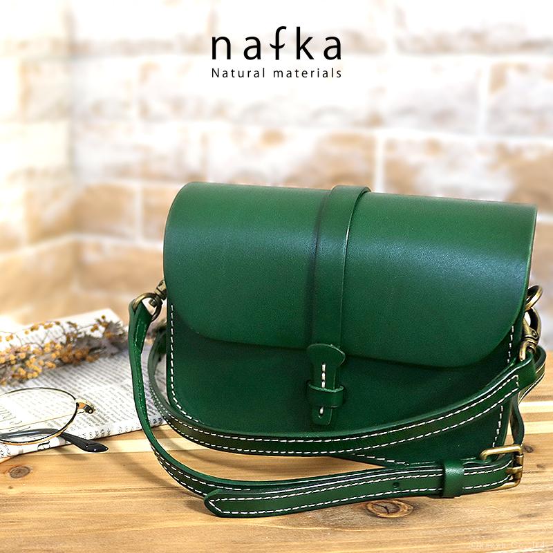 nafka-ナフカ- 本革 ハンドステッチ ミニショルダーバッグ