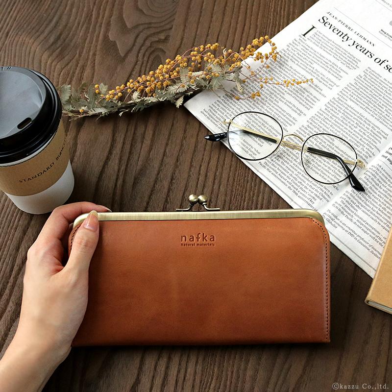 本革独特の経年変化を楽しむことが出来る長財布