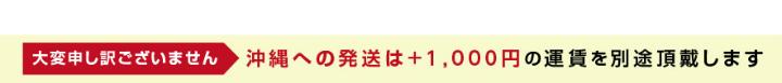 送料無料:沖縄への発送は+1000円頂戴致します