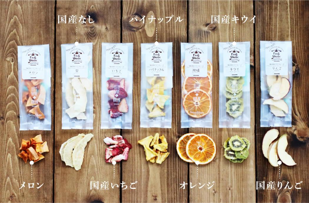 梨 パイン キウイ メロン いちご オレンジ りんご