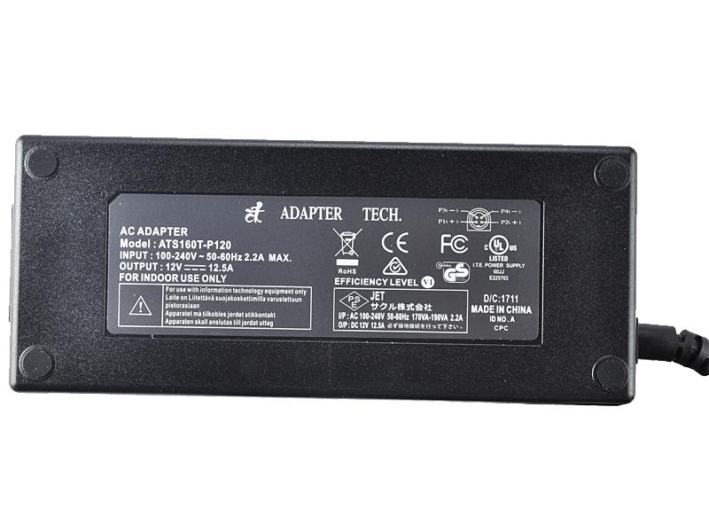 汎用ACアダプター 12V 12.5A