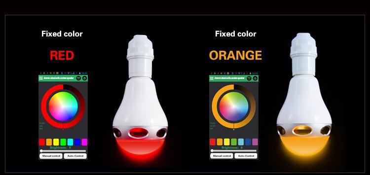 カラーBluetoothスピーカー搭載LED電球