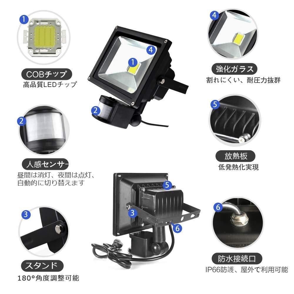 人感センサー 投光器