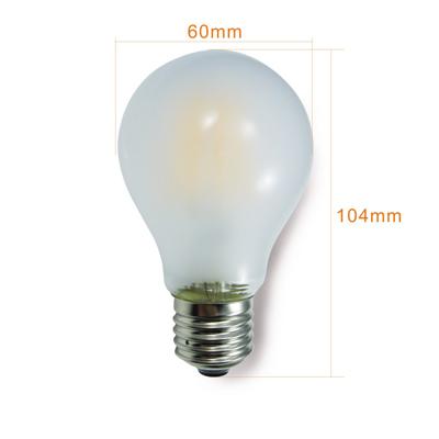新型ライン型LEDクリア電球の寸法と重さ