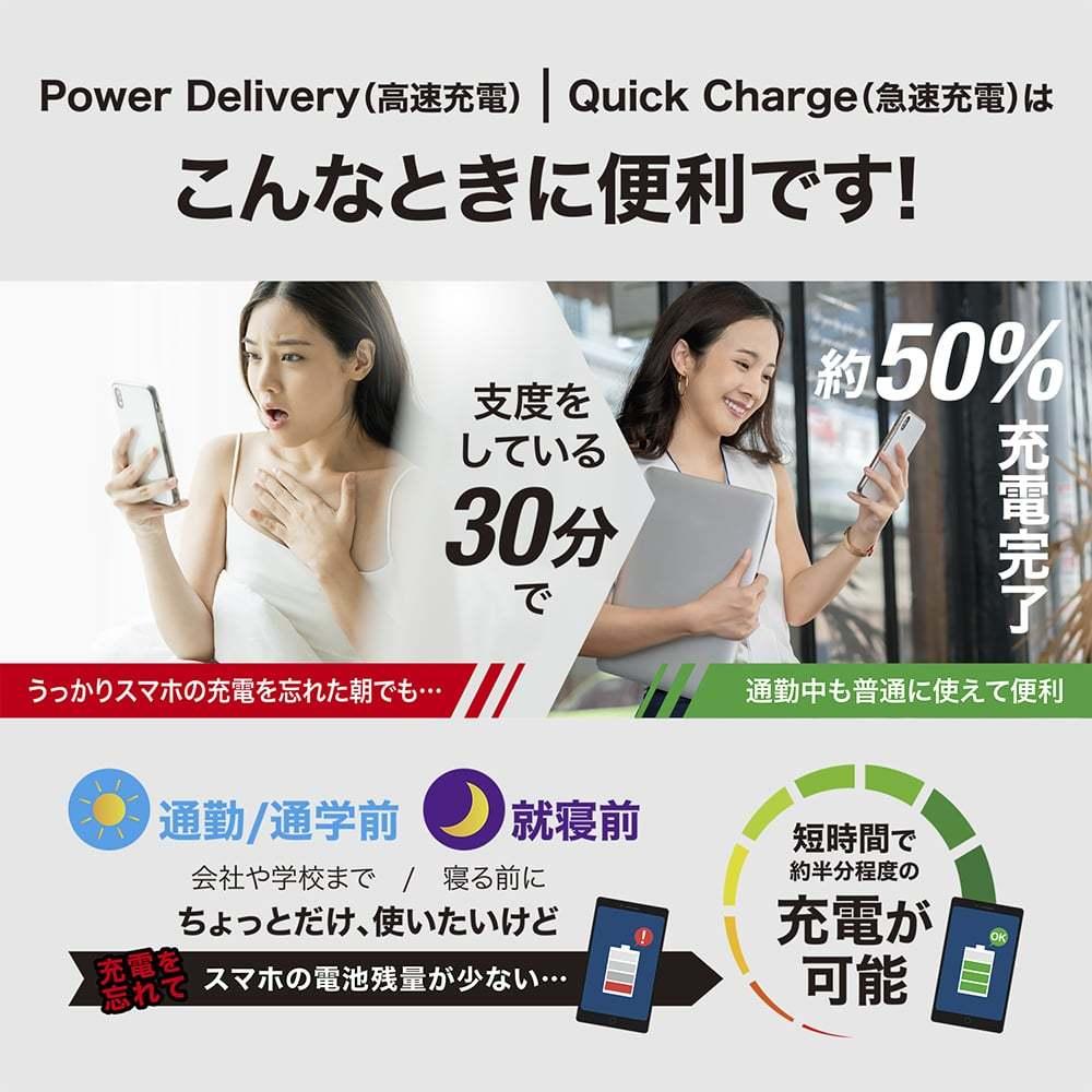 USB PD充電器 20W ACアダプター iPhone12対応 急速充電器