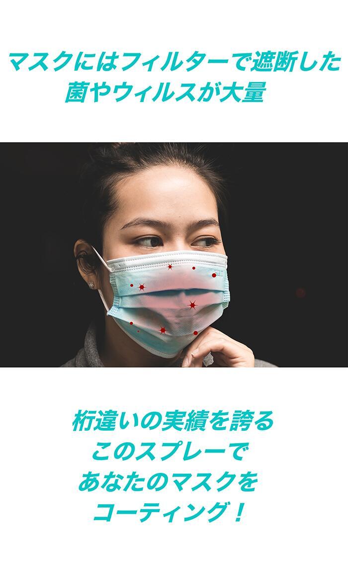 除菌スプレー マスク