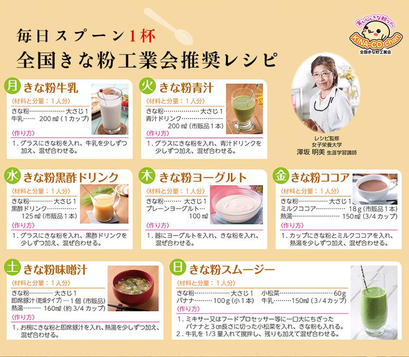 全国きな粉工業会推奨レシピ