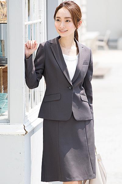 304447ab6770d 5号AP~19号ABR選べる裏地&デザイン洗えるストレッチ生地オールシーズンスカートスーツ