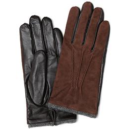 KURODA(クロダ) ヤギ革 メンズ 手袋 ダークブラウン