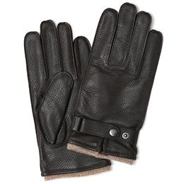 KURODA(クロダ) 鹿革 メンズ 手袋 ダークブラウン