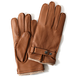 KURODA(クロダ) 鹿革 メンズ 手袋 キャメル