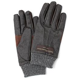 KURODA(クロダ) カノニコ社製ウール生地 手袋 ダークグレー