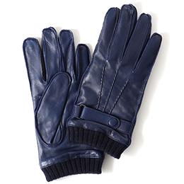 KURODA(クロダ) 羊革 メンズ 手袋 ネイビー