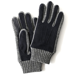 KURODA(クロダ) ヤギ革 メンズ 手袋 ネイビー