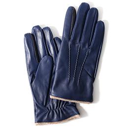 KURODA(クロダ) 羊革 メンズ 手袋 ブルー