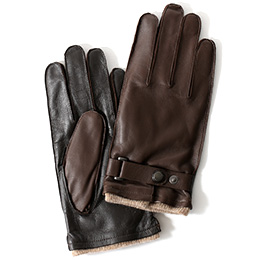 KURODA(クロダ) 羊革(イタリア製ラムスキン) 手袋 ブラウン