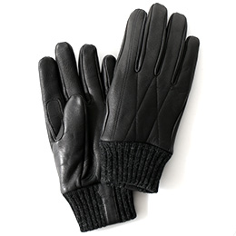 KURODA(クロダ) ヤギ革(ゴートスキン) メンズ 手袋 ブラック