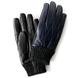 KURODA(クロダ) ヤギ革(ゴートスキン) メンズ 手袋 ネイビー