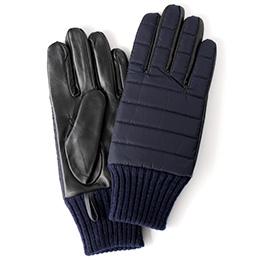 KURODA(クロダ) 羊革 リモンタナイロン メンズ 手袋 ネイビー