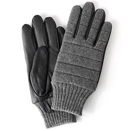 KURODA(クロダ) 羊革 ナイロン メンズ 手袋 グレー