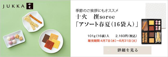 十火 季節商品  撰アソート春夏101g(16袋)入